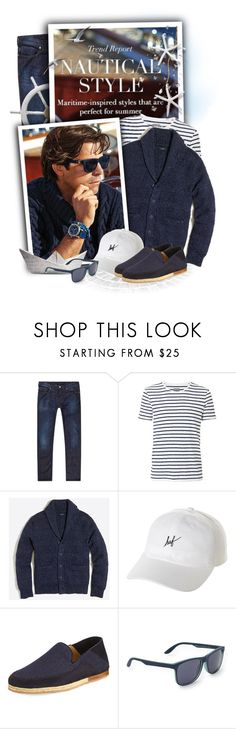 """Denim & Suede Espadrille"" by tasha1973 ❤ liked on Polyvore featuring Armani Jeans, Ralph Lauren, Witchery, J.Crew, HUF, Ermenegildo Zegna, Aéropostale, men's fashion and menswear"