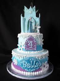 Image result for elsa castle cake