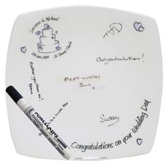 Personalised Wedding Cake Message Plate  from Personalised Gifts Shop - ONLY £24.95