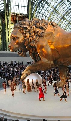 House of Chanel Fashion Runway at the Grand Palais, Paris, France Oh Paris, I Love Paris, Paris Travel, France Travel, Grand Palais Paris, Foto Poster, Belle Villa, Monuments, Belle Photo