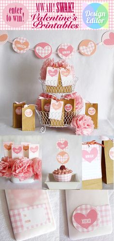 sweet, pretty and simple valentines