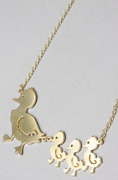 Duckling Necklace... Super cute mother's day gift idea