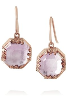 Larkspur & Hawk | Mary rose gold-dipped topaz earrings | NET-A-PORTER.COM