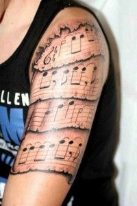 Music Tattoo Designs....