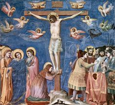 Giotto Di Bondone Scenes from the Life of Christ: Crucifixion (Cappella Scrovegni (Arena Chapel), Padua) hand painted oil painting reproduction on canvas by artist Renaissance Kunst, Italian Renaissance, Mural Painting, Painting Prints, Art Prints, Life Of Christ, Italian Painters, Italian Artist, Chapelle