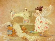 Discussion on LiveInternet - Russian Service Online Diaries Fairy Land, Fairy Tales, Sewing Art, Flower Fairies, Children's Book Illustration, Vintage Cards, Art For Kids, Dragons, Fantasy Art