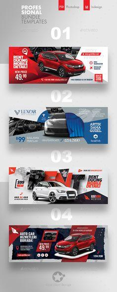 Rent A Car Cover Bundle Templates design graphic design arch Web Design, Web Banner Design, Social Media Design, Layout Design, Design Cars, Web Banners, Jazz Poster, Neon Poster, Facebook Cover Design