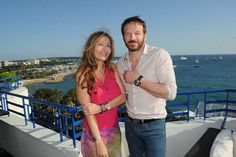 French actor and director Samuel Le Bihan is wearing a Charriol Gran Celtica SuperSportS automatic watch, Marie-Olga Charriol, PR director, is wearing a Charriol St-Tropez watch and Charriol bangles Cannes Film Festival 2015, Watches, Automatic Watch, Best Sellers, Celtic, Bangles, Actors, French, Bracelets