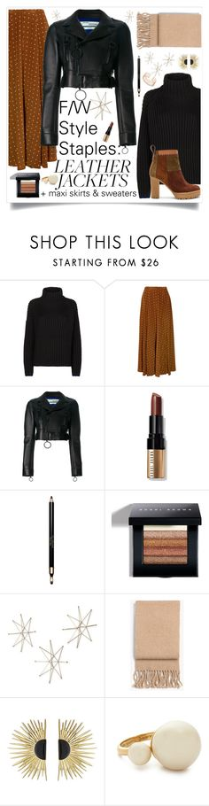 """F/W Style Staples: Layering with (Faux) Leather Jackets"" by maggiesinthemoon ❤ liked on Polyvore featuring Victoria, Victoria Beckham, Diane Von Furstenberg, Off-White, Bobbi Brown Cosmetics, Clarins, Uttermost, rag & bone, Aurélie Bidermann, Kate Spade and See by Chloé"
