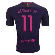 Barcelona 16/17 NEYMAR JR Authentic Away Soccer Jersey