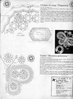 SOLO PUNTOS: Mariposas crochet