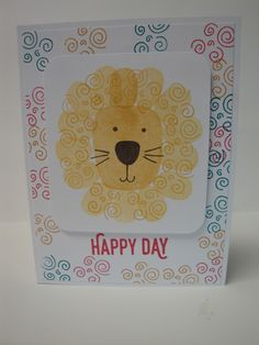 Kid - Birthday Lion Playful Pals Stampin Up