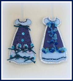 Linda Walsh Originals Dolls and Crafts Blog: My New Free Linda's How-Do-I Series? How To Make Our Victorian Cut and Sew Blue Dress Ornaments E-Book Tutorial