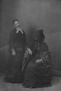 Weird Victorian photo...probably staged for Halloween.  Some people are calling this a post-mortem but that is doubtful.  Many Victorians appeared to just enjoy taking photos of scary stuff for fun.