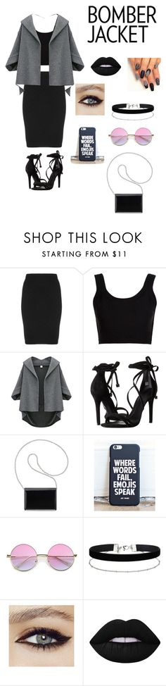 """Untitled #369"" by annie-lor ❤ liked on Polyvore featuring Manon Baptiste, Calvin Klein Collection, Schutz, Nine West, Miss Selfridge, Lime Crime and bomberjackets"