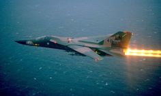 This is a F-111F in full burner.  Note the multicolor tail markings indicating this is the Wing Commanders Aircraft.