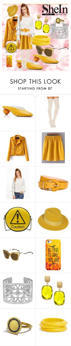 """""""Sunny  Day  Shein:  White Top"""" by bluehatter ❤ liked on Polyvore featuring Gray Matters, Free People, WithChic, Melie Bianco, Maison Michel, Fendi, Casetify, Sarah Kosta, Effy Jewelry and ZENZii"""