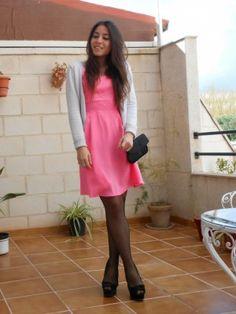 lacedresseseverywhere Outfit  zara pink black dress blog Heels fashionblogger fashionista rosewholesale  Primavera 2014. Combinar Vestido Rosa chicle rosewholesale, Cómo vestirse y combinar según lacedresseseverywhere el 3-4-2014