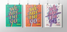"""These are the second posters set for """"We are the 90's"""".An event based in Paris, France. By Joluvian"""