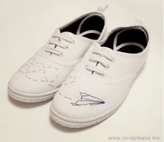 Vivid Please: DIY: How To Customise Canvas Shoes