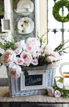 Fantastic french country decor are offered on our web pages. Read more and you w… – farmhouse decor flowers French Country Rug, French Country Decorating, Do It Yourself Furniture, Spring, Country Farmhouse Decor, Rustic Decor, Floral Arrangements, Diy Home Decor, Floral Design
