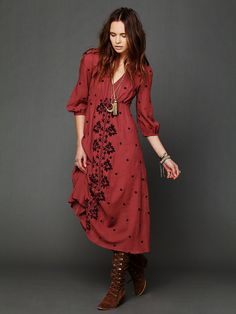 Free People Embroidered Fable Dress http://www.freepeople.com/whats-new/embroidered-fable-dress/