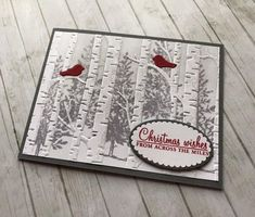 Hi Friends, Today I& sharing a technique that& been around for a while but never gets old. My friend Lani showed me a gorgeous card she. Homemade Christmas Cards, Christmas Tree Cards, Xmas Cards, Homemade Cards, Holiday Cards, Simple Christmas, Christmas 2019, Christmas Crafts, Card Making Tutorials