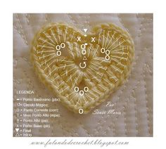 Free Crochet Pattern - Heart with Chart