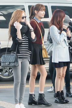 Jessica, Sooyoung and Tiffany