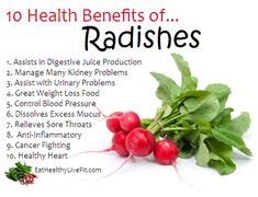 10 Health Benefits of Radishes