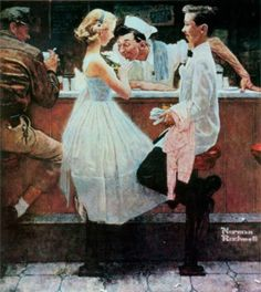 """After The Prom"" painting by Norman Rockwell."