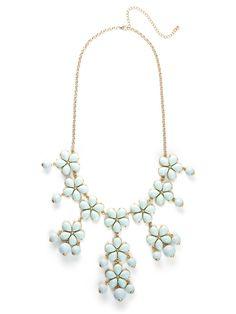 love this statement piece - our mint floral pendant bib!