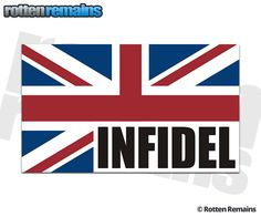 British Union Jack Flag Infidel Sticker Decal