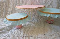 Five Seventeen Repurposing: Embroidery hoop cake/dessert stands