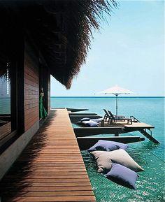 Maldives - floating hammock