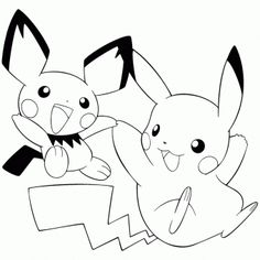 Pikachu Coloring Pages-Pokemon Coloring Pages - Color Zini Pikachu Pikachu, Ash Pokemon, Pikachu Coloring Page, Pokemon Coloring Pages, Cartoon Coloring Pages, Free Coloring Pages, Coloring Books, Coloring Stuff, Pikachu Drawing