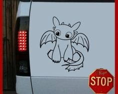 Any Size How to Train Your Dragon Inspired Toothless Sticker Decal Any Color Car Window Wall Macbook