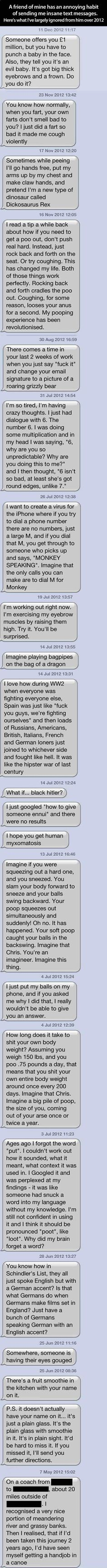 Annoying (funny) text messages… :D