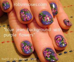 Nail-art by Robin Moses: prom nail art, nails for prom, purple prom nails, blue nails, blue prom nails, pink prom nails, pink dance nails, neutral nail art, mint nail art, mint and red nail art, urban nail art, indie nail art, urban flower, boho nail art, hippie nail art, dance nail art, fresh and clean nails, clean nail art,