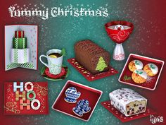 Yummy Christmas by soloriya at TSR • Sims 4 Updates