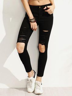 Jeans Negros Rotos * - Toppunt - 1