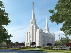 Click to enlarge this image of the Brigham City Utah Mormon Temple