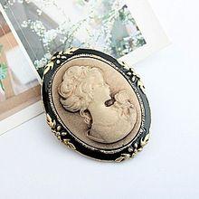 modieuze mooie broche pennen sieraden vintage antiek brons koningin camee broches voor vrouwen kerst cadeau ax014(China (Mainland))