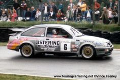 Goode's Sierra was now an RS500. He shared with Percy.  Pictures - 1987 Oulton Park BTCC