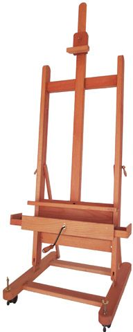 Small Master Studio Easel with Crank by MABEF - Raw Materials Art Supplies Art Easel, Wooden Easel, Paint Tubes, Studio Equipment, Brass Wood, Small Studio, Art Furniture, Working Area, Your Paintings