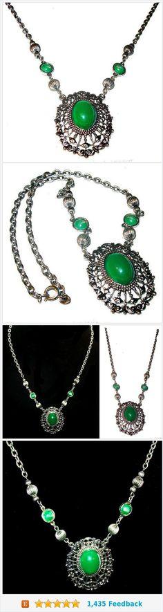 Fine Antiques Old Pendants __800 Silver __ Gem __ Necklace Pendant Signed