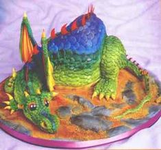 Cool! Dragon cake.