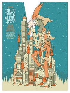 Kings of Leon Concert Poster by Invisible Creature