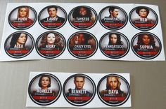 Orange is the New Black Stickers Set 13 Characters Piper Alex Daya Red Get Glue