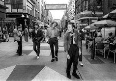 Sex Pistols strolling Carnaby Street